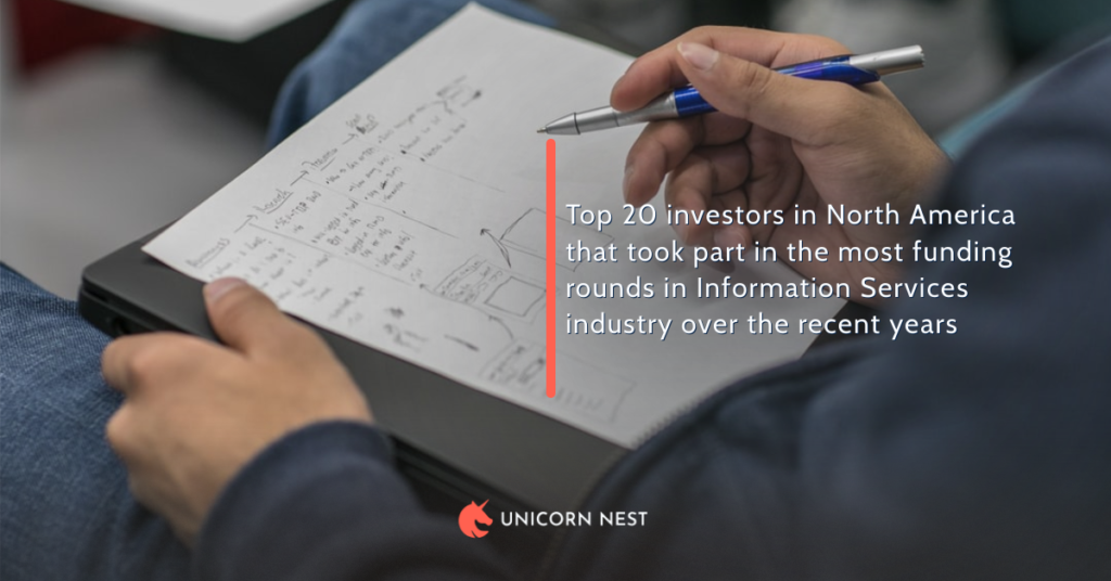 Top 20 investors in North America that took part in the most funding rounds in Information Services industry over the recent years