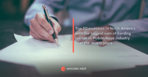 Top 20 investors in North America with the biggest sum of funding rounds in Mobile/Apps industry over the recent years