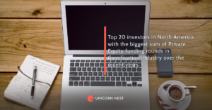 Top 20 investors in North America with the biggest sum of Private Equity funding rounds in Gamification industry over the recent years