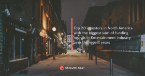 Top 20 investors in North America with the biggest sum of funding rounds in Entertainment industry over the recent years