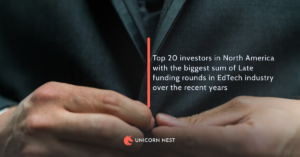 Top 20 investors in North America with the biggest sum of Late funding rounds in EdTech industry over the recent years