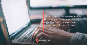 Top 20 investors in Western Europe that took part in the most funding rounds in Telecommunications industry over the recent years