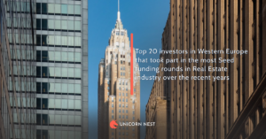 Top 20 investors in Western Europe that took part in the most Seed funding rounds in Real Estate industry over the recent years