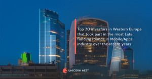Top 20 investors in Western Europe that took part in the most Late funding rounds in Mobile/Apps industry over the recent years