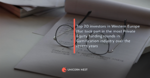 Top 20 investors in Western Europe that took part in the most Private Equity funding rounds in Gamification industry over the recent years