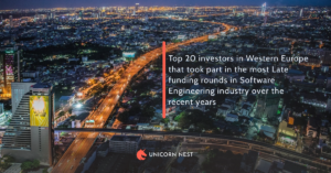 Top 20 investors in Western Europe that took part in the most Late funding rounds in Software Engineering industry over the recent years