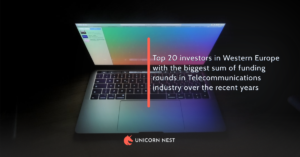 Top 20 investors in Western Europe with the biggest sum of funding rounds in Telecommunications industry over the recent years