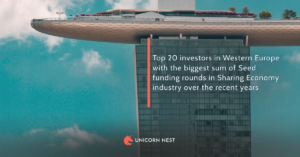 Top 20 investors in Western Europe with the biggest sum of Seed funding rounds in Sharing Economy industry over the recent years