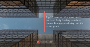 Top 20 investors that took part in the most Early funding rounds in Human Resources industry over the recent years