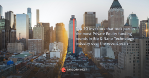Top 20 investors that took part in the most Private Equity funding rounds in Bio & Nano Technology industry over the recent years