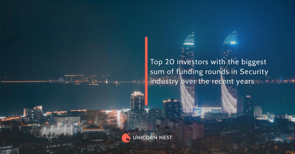 Top 20 investors with the biggest sum of funding rounds in Security industry over the recent years