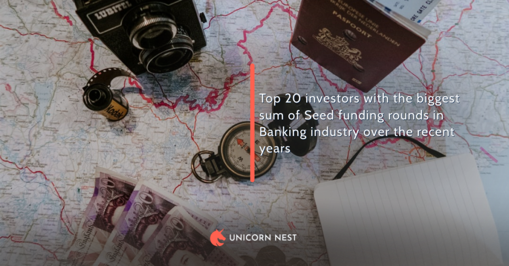 Top 20 investors with the biggest sum of Seed funding rounds in Banking industry over the recent years