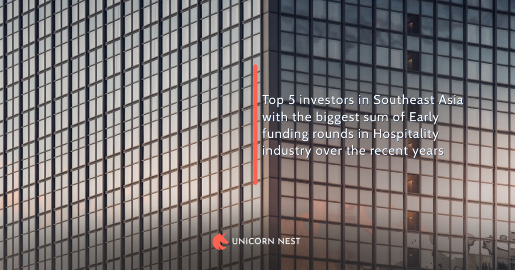 Top 5 investors in Southeast Asia with the biggest sum of Early funding rounds in Hospitality industry over the recent years