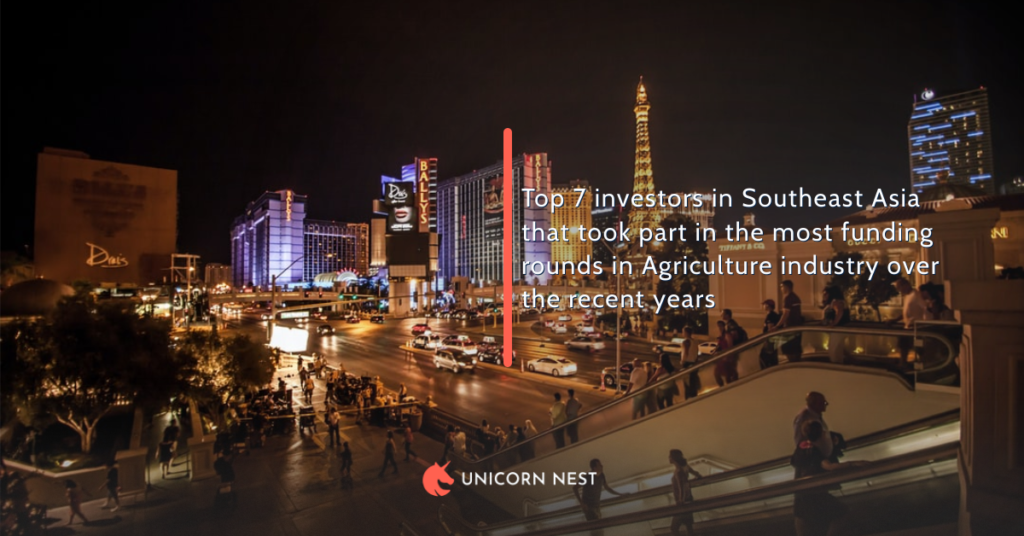 Top 7 investors in Southeast Asia that took part in the most funding rounds in Agriculture industry over the recent years