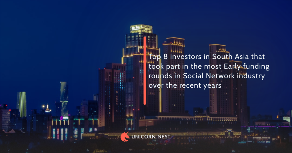Top 8 investors in South Asia that took part in the most Early funding rounds in Social Network industry over the recent years