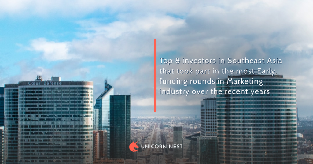 Top 8 investors in Southeast Asia that took part in the most Early funding rounds in Marketing industry over the recent years