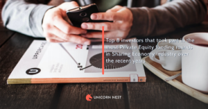 Top 8 investors that took part in the most Private Equity funding rounds in Sharing Economy industry over the recent years