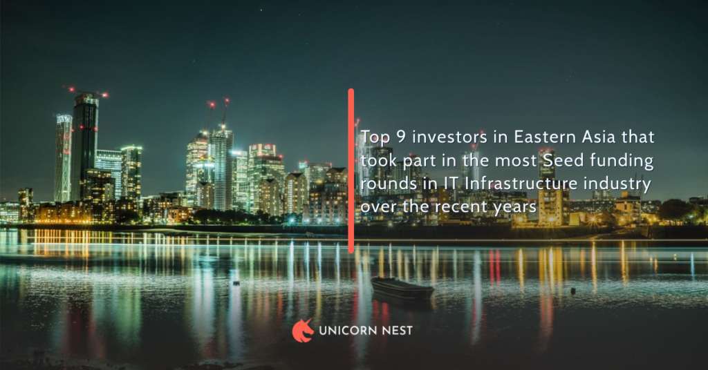 Top 9 investors in Eastern Asia that took part in the most Seed funding rounds in IT Infrastructure industry over the recent years