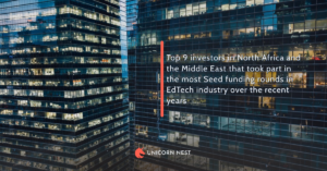 Top 9 investors in North Africa and the Middle East that took part in the most Seed funding rounds in EdTech industry over the recent years