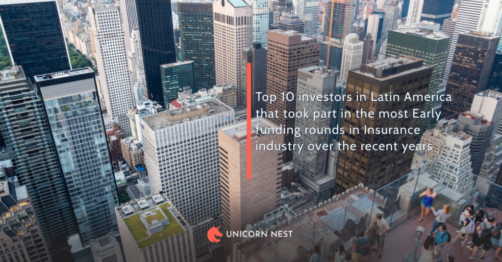 Top 10 investors in Latin America that took part in the most Early funding rounds in Insurance industry over the recent years