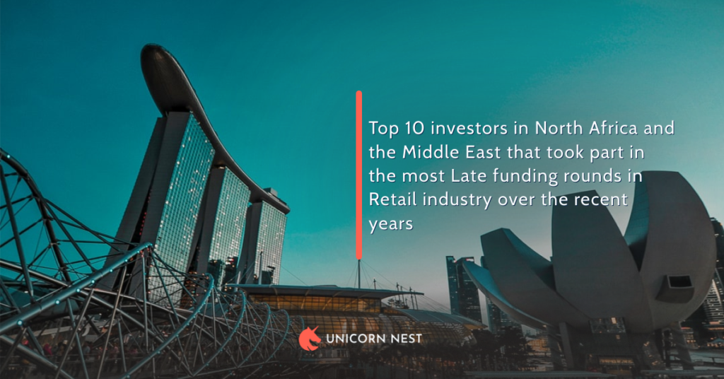 Top 10 investors in North Africa and the Middle East that took part in the most Late funding rounds in Retail industry over the recent years