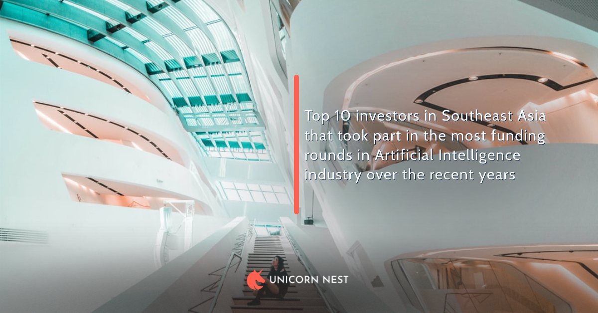Top 10 investors in Southeast Asia that took part in the most funding rounds in Artificial Intelligence industry over the recent years