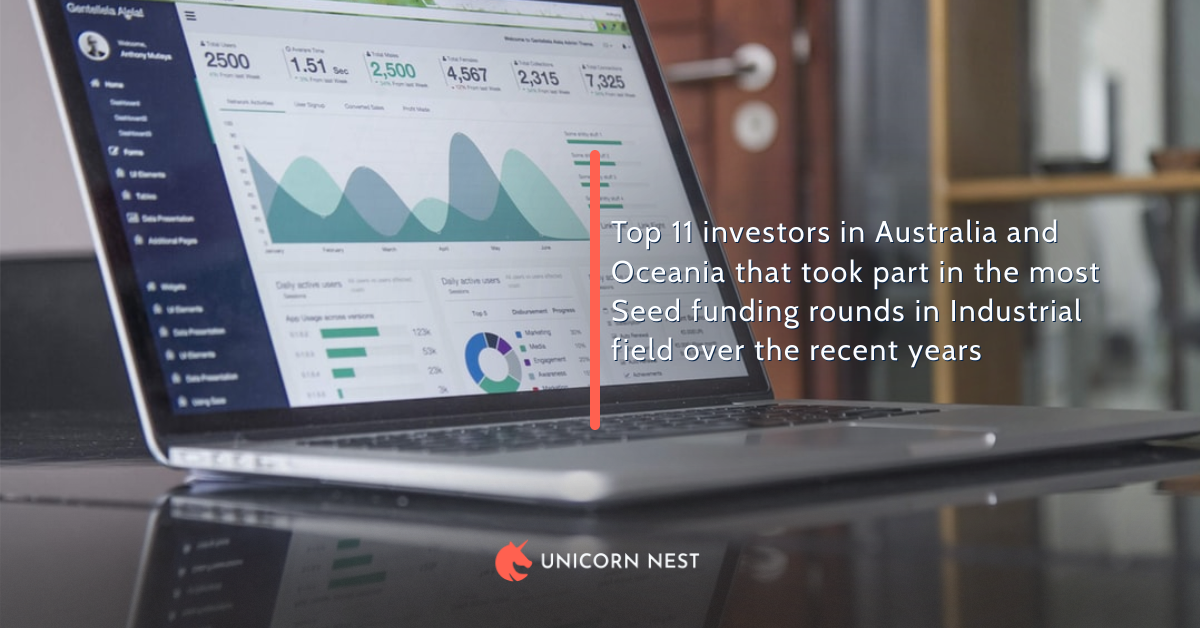 Top 11 investors in Australia and Oceania that took part in the most Seed funding rounds in Industrial field over the recent years