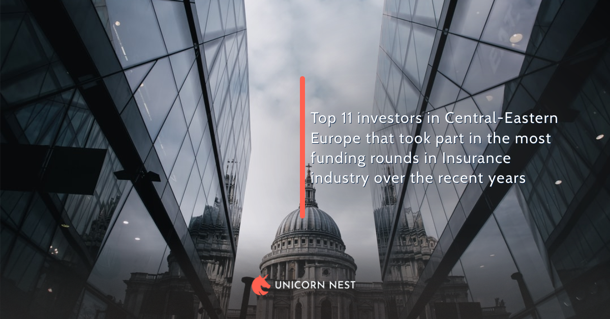 Top 11 investors in Central-Eastern Europe that took part in the most funding rounds in Insurance industry over the recent years