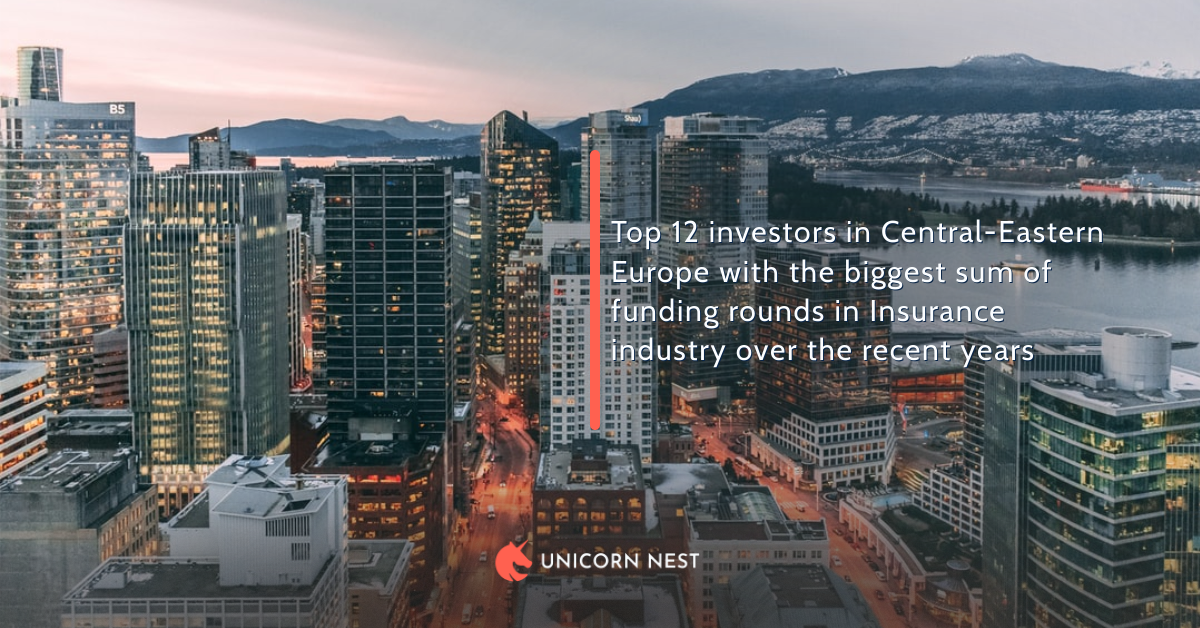 Top 12 investors in Central-Eastern Europe with the biggest sum of funding rounds in Insurance industry over the recent years
