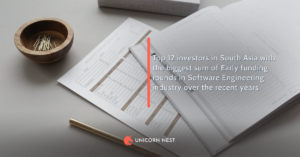 Top 12 investors in South Asia with the biggest sum of Early funding rounds in Software Engineering industry over the recent years