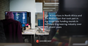 Top 14 investors in North Africa and the Middle East that took part in the most Late funding rounds in Software Engineering industry over the recent years
