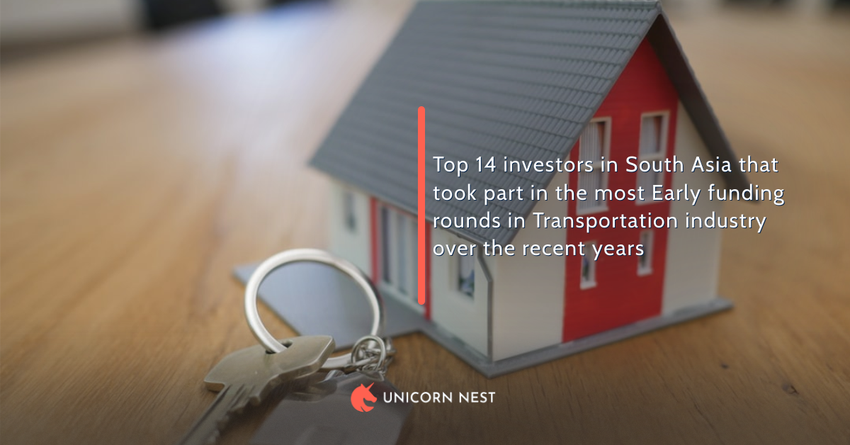 Top 14 investors in South Asia that took part in the most Early funding rounds in Transportation industry over the recent years