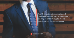 Top 15 investors in Australia and Oceania that took part in the most funding rounds in Digital Media industry over the recent years