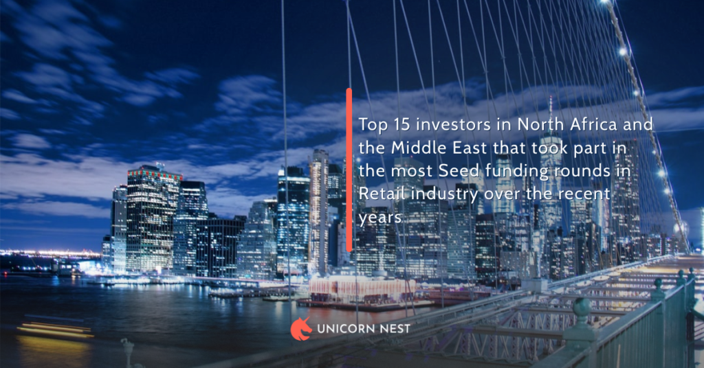 Top 15 investors in North Africa and the Middle East that took part in the most Seed funding rounds in Retail industry over the recent years