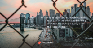 Top 16 investors in Eastern Asia that took part in the most Seed funding rounds in Insurance industry over the recent years