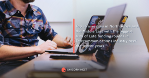 Top 16 investors in North Africa and the Middle East with the biggest sum of Late funding rounds in Telecommunications industry over the recent years