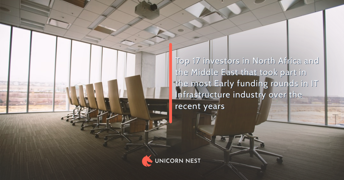 Top 17 investors in North Africa and the Middle East that took part in the most Early funding rounds in IT Infrastructure industry over the recent years