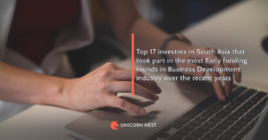 Top 17 investors in South Asia that took part in the most Early funding rounds in Business Development industry over the recent years