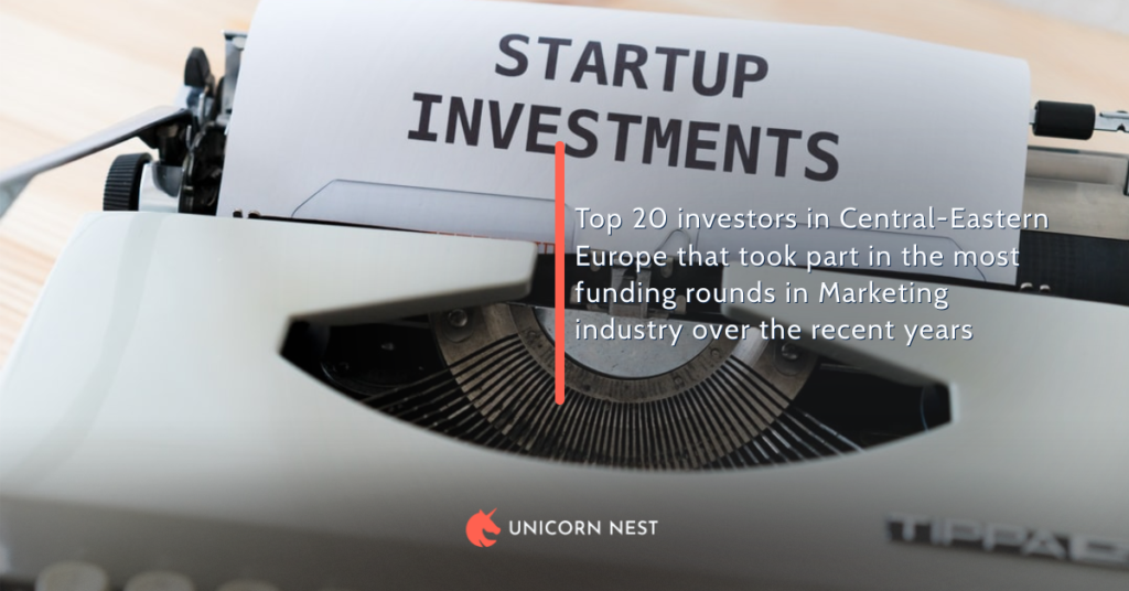 Top 20 investors in Central-Eastern Europe that took part in the most funding rounds in Marketing industry over the recent years