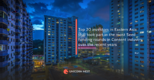 Top 20 investors in Eastern Asia that took part in the most Seed funding rounds in Content industry over the recent years