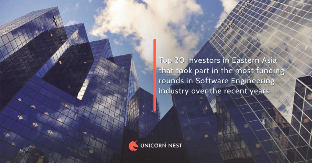 Top 20 investors in Eastern Asia that took part in the most funding rounds in Software Engineering industry over the recent years