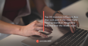 Top 20 investors in Eastern Asia that took part in the most Early funding rounds in Hospitality industry over the recent years
