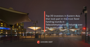 Top 20 investors in Eastern Asia that took part in the most Seed funding rounds in Telecommunications industry over the recent years