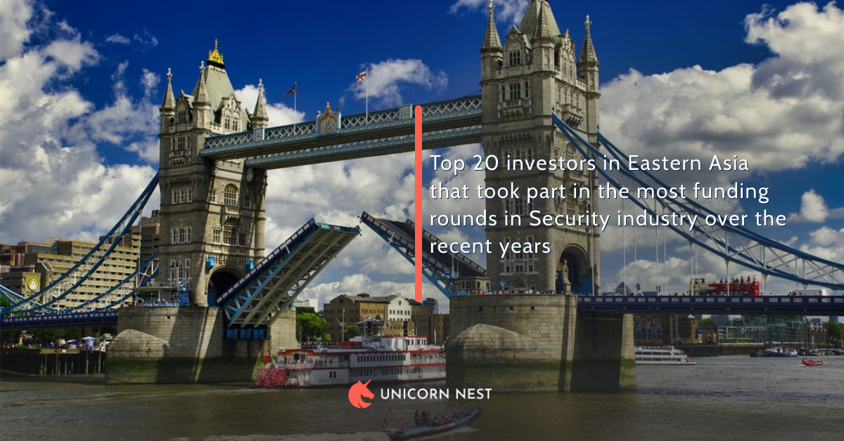 Top 20 investors in Eastern Asia that took part in the most funding rounds in Security industry over the recent years