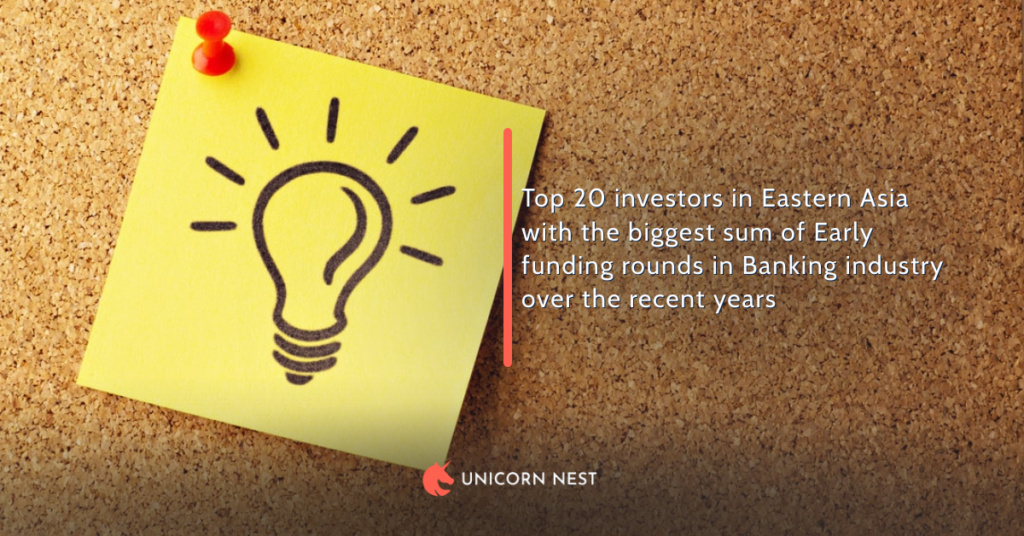 Top 20 investors in Eastern Asia with the biggest sum of Early funding rounds in Banking industry over the recent years