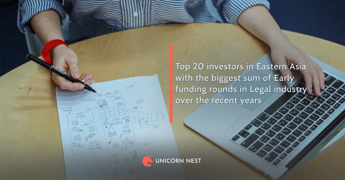 Top 20 investors in Eastern Asia with the biggest sum of Early funding rounds in Legal industry over the recent years