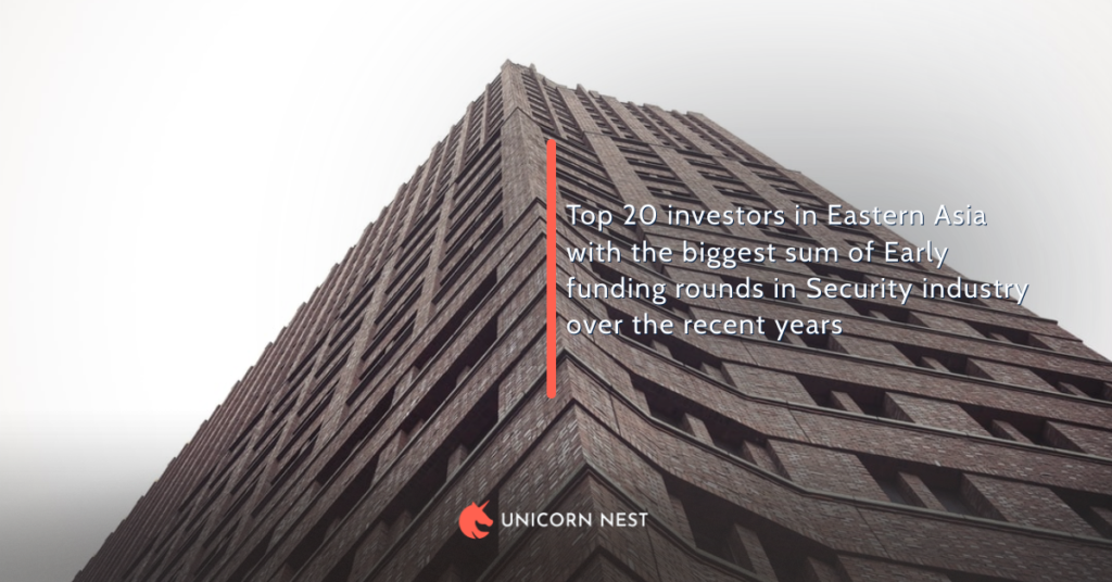 Top 20 investors in Eastern Asia with the biggest sum of Early funding rounds in Security industry over the recent years