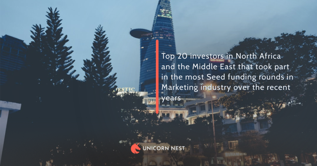 Top 20 investors in North Africa and the Middle East that took part in the most Seed funding rounds in Marketing industry over the recent years