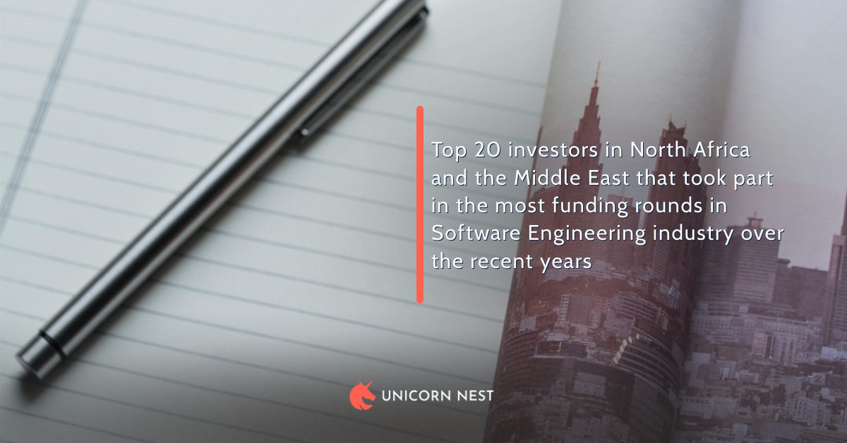 Top 20 investors in North Africa and the Middle East that took part in the most funding rounds in Software Engineering industry over the recent years