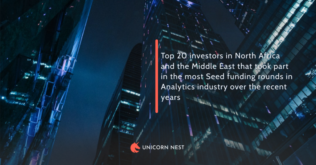 Top 20 investors in North Africa and the Middle East that took part in the most Seed funding rounds in Analytics industry over the recent years